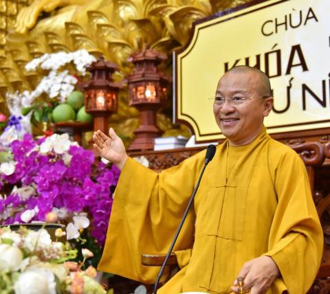 TT. Thích Nhật Từ thuyết giảng tại khóa tu Thiền lần thứ 21