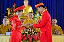 Lễ hằng thuận của hai phụng sự viên chùa Giác Ngộ