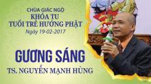 Gương Sáng 9: TS. Nguyễn Mạnh Hùng