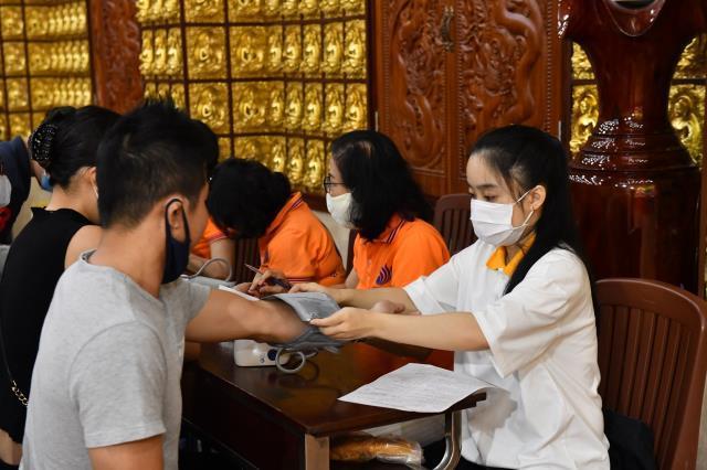 Chùa Giác Ngộ: 460 người tham gia hiến máu nhân đạo