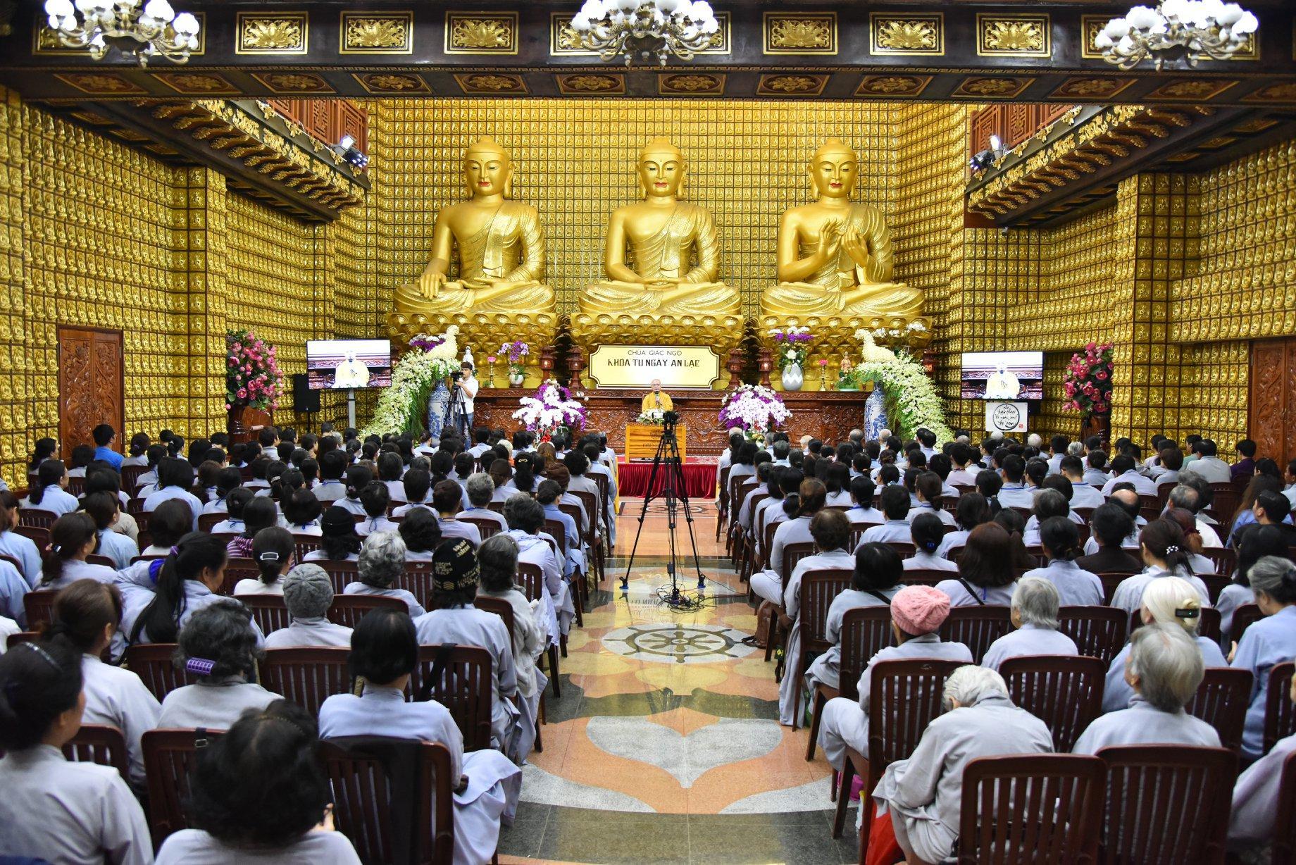 Chùa Giác Ngộ: Khóa tu an lạc lần thứ 59 và khóa tu tuổi trẻ hướng Phật lần thứ 59 (09-12-2018)